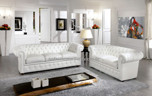 sofa chesterfield branco