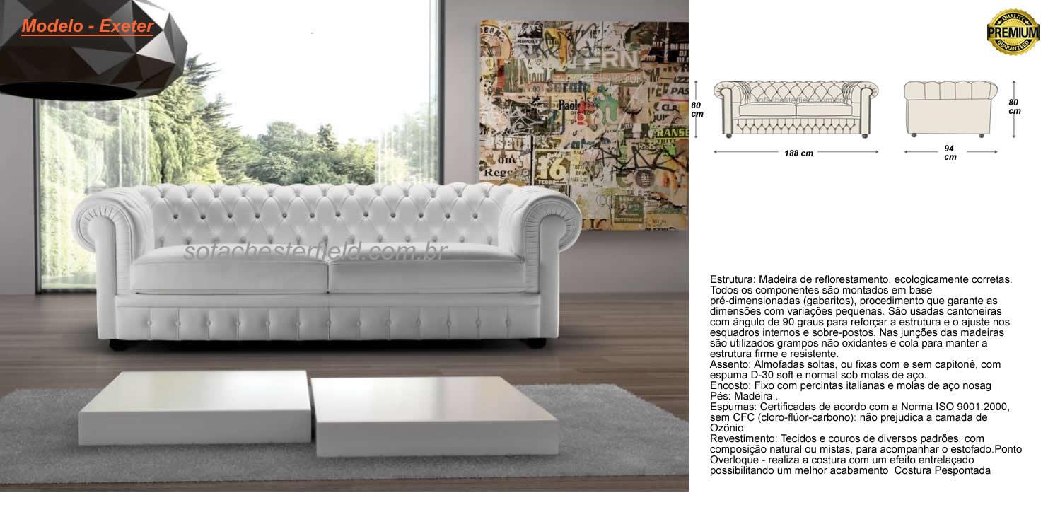 Sofa chesterfield couro leg timo 5 modelos lindos em - Modelos de cojines para sofas ...